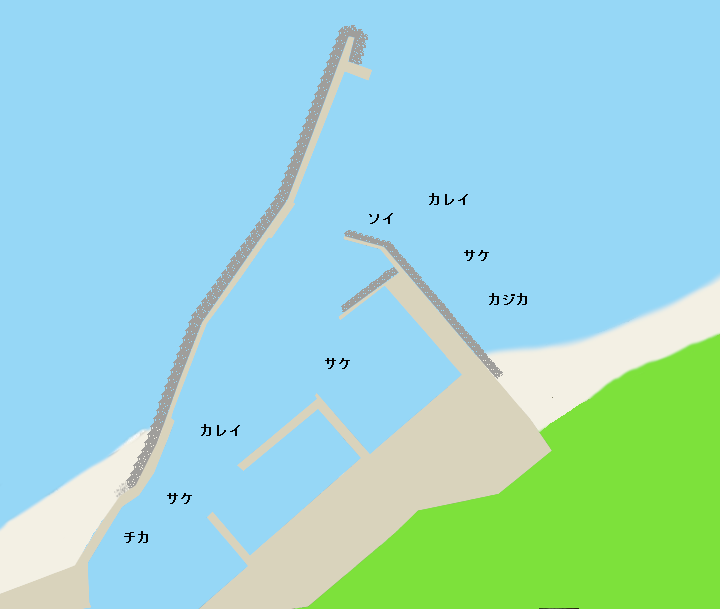 登別漁港ポイント図
