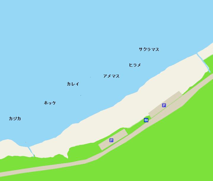 野塚海岸ポイント図