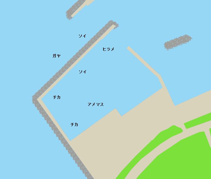 野塚漁港ポイント図