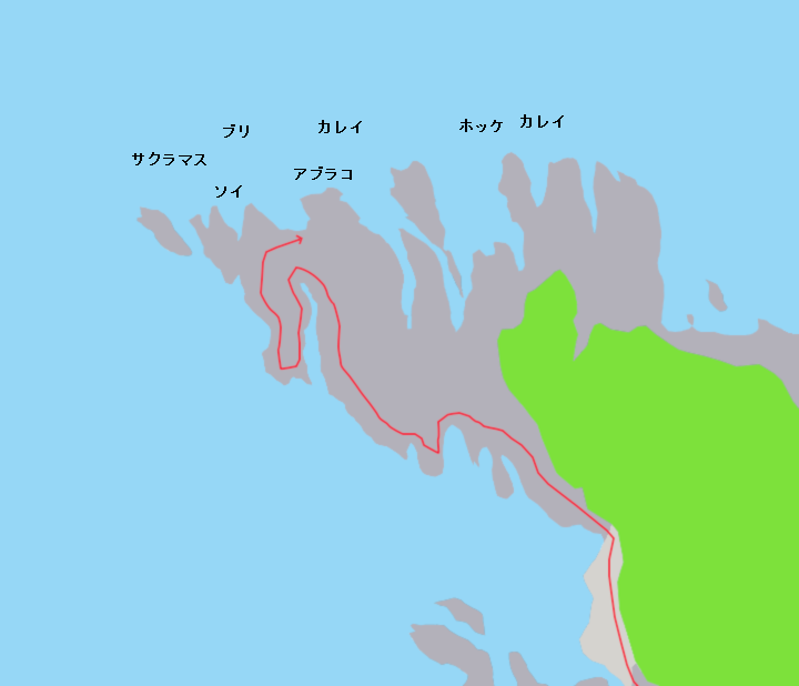 沼前岬ポイント図