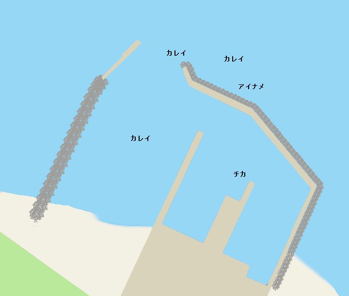 沼尻漁港ポイント図