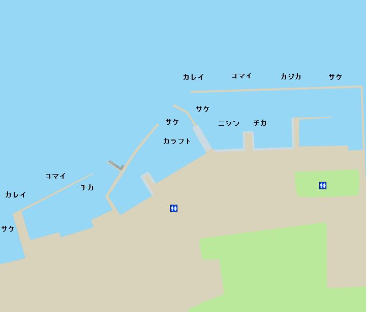 尾岱沼漁港ポイント図