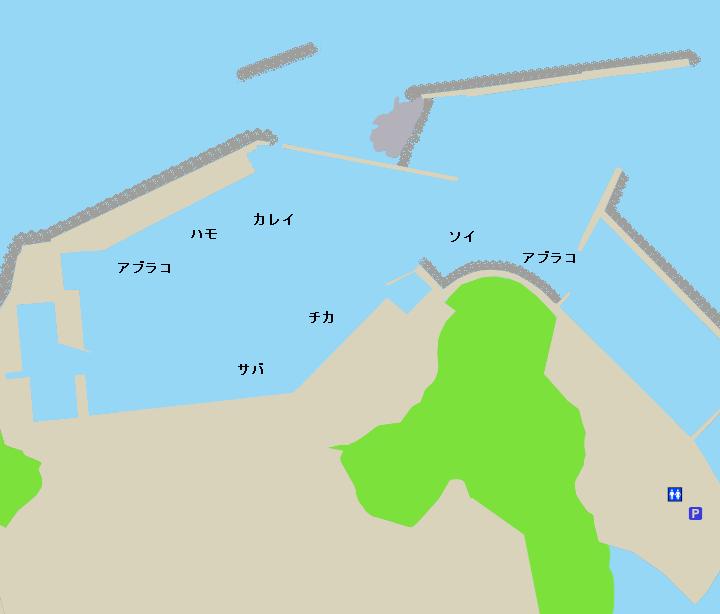 追直漁港ポイント図