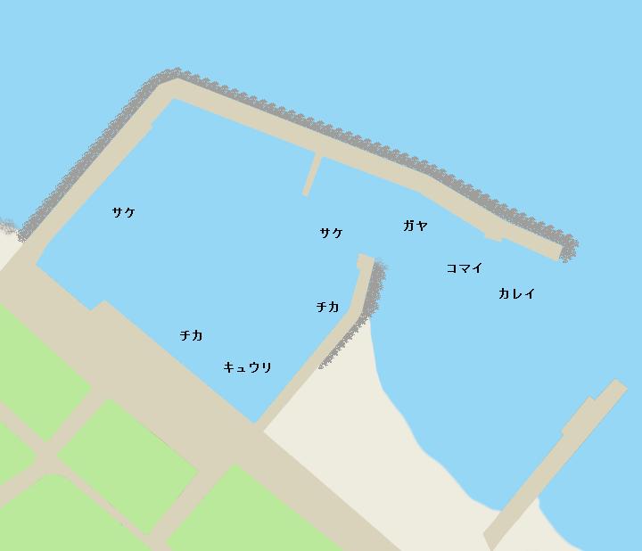 興部漁港ポイント図