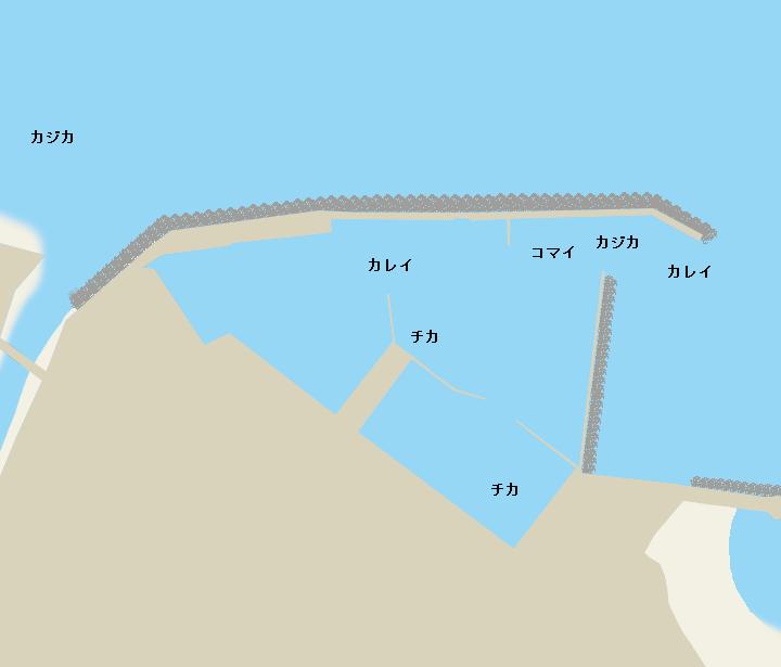 鬼鹿漁港ポイント図