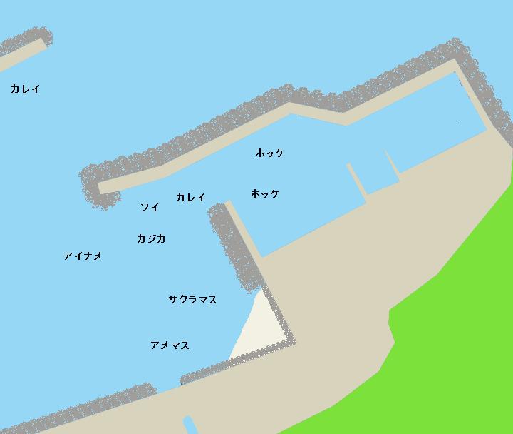 太田漁港ポイント図