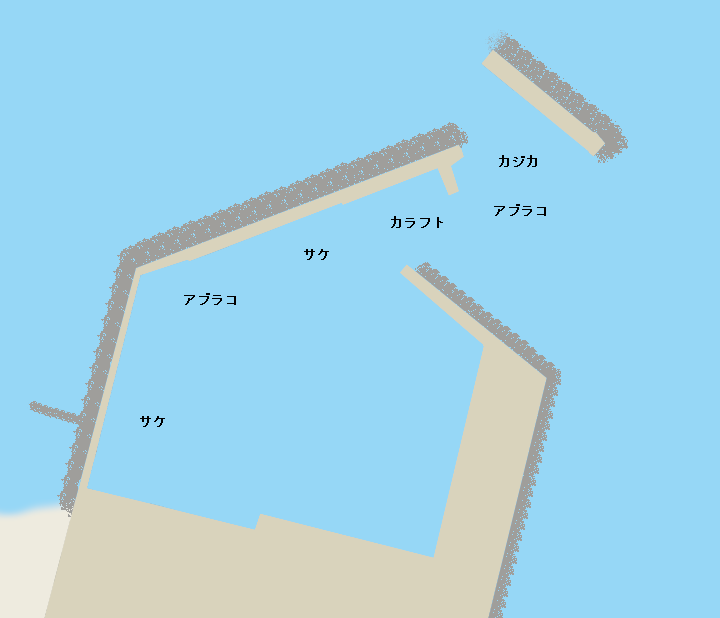 老者舞漁港ポイント図