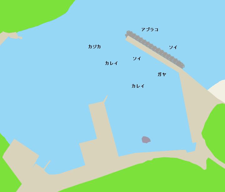忍路漁港ポイント図