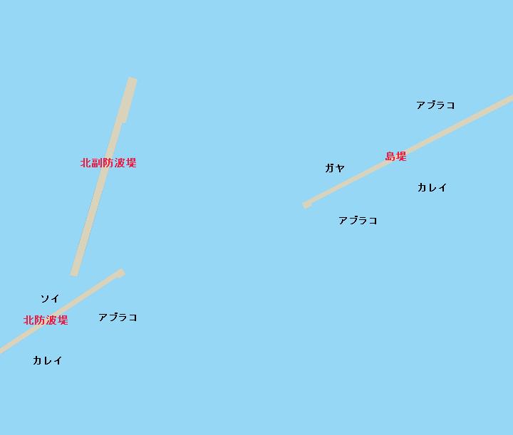 小樽港沖堤防ポイント図