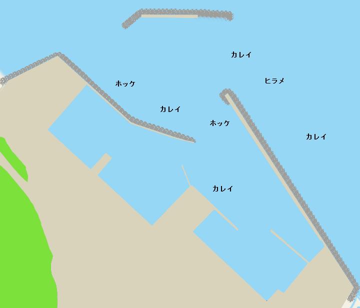 乙部漁港ポイント図
