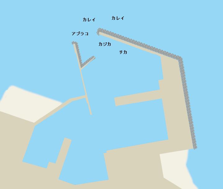 落部漁港ポイント図