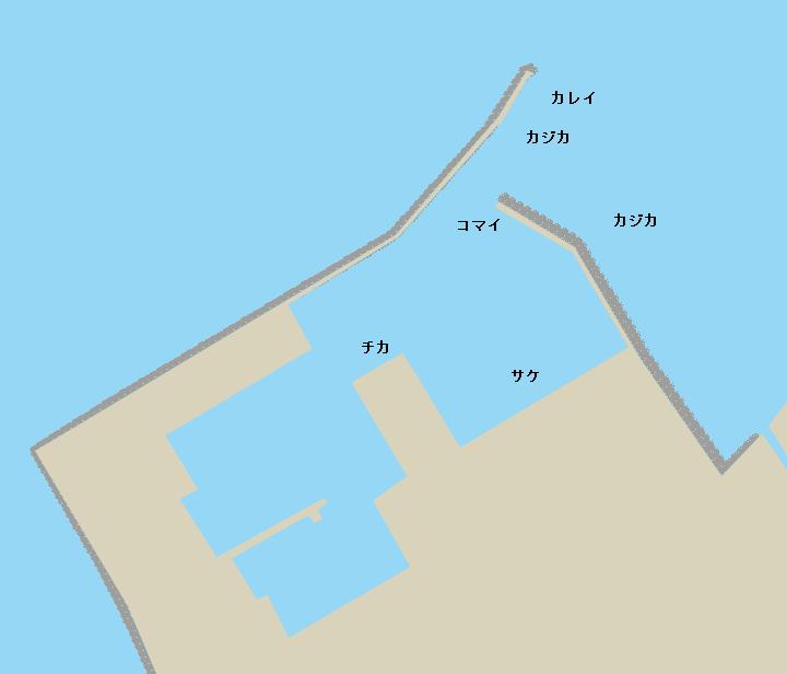 雄武漁港ポイント図