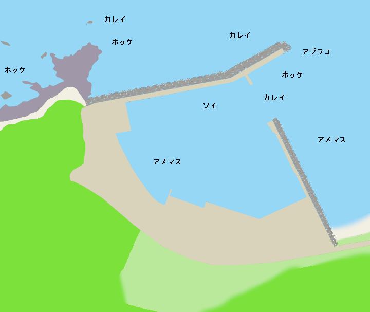 来岸漁港ポイント図