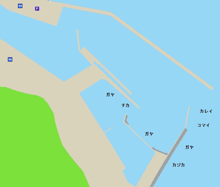羅臼漁港ポイント図