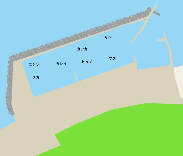 礼受漁港ポイント図