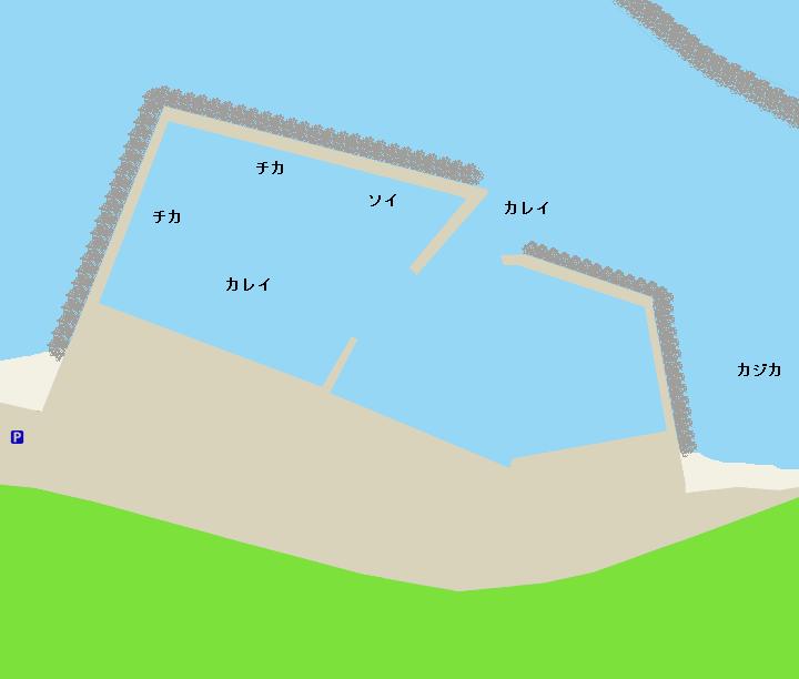 力昼漁港ポイント図