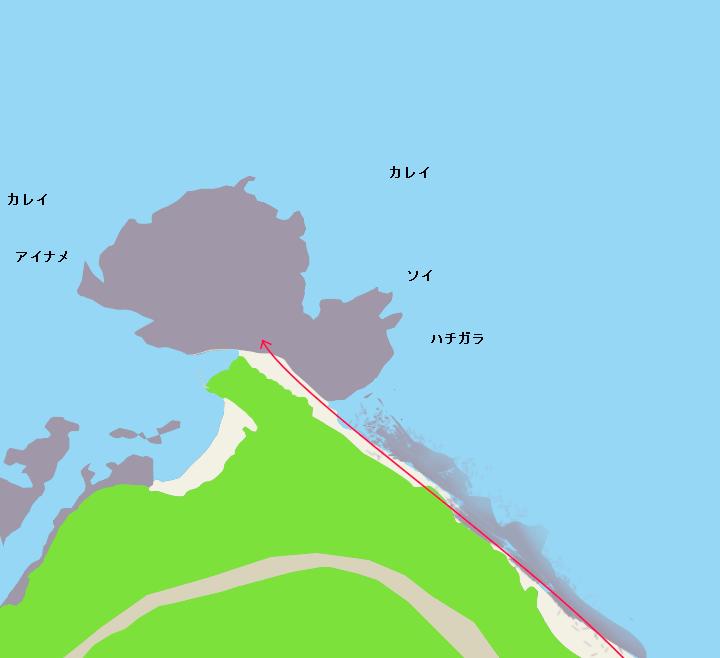 竜神岬ポイント図
