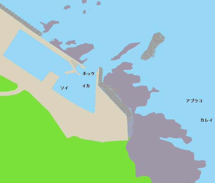盃漁港ポイント図
