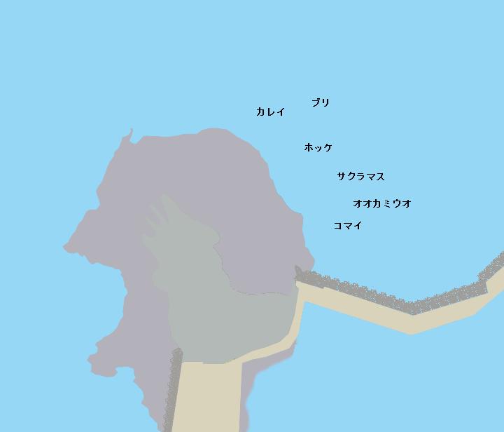 ウトロ三角岩ポイント図