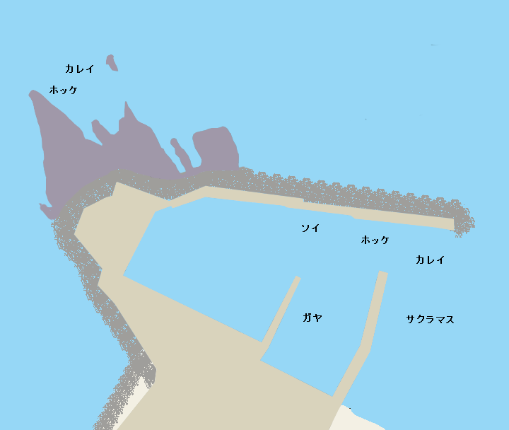 珊内漁港ポイント図