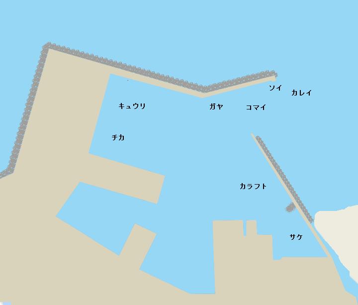 沙留漁港ポイント図