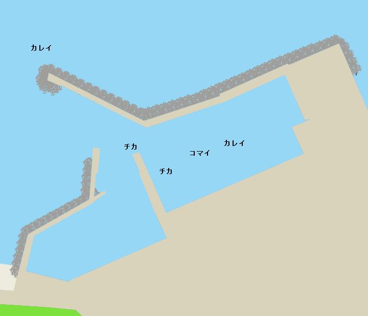 沢木漁港ポイント図