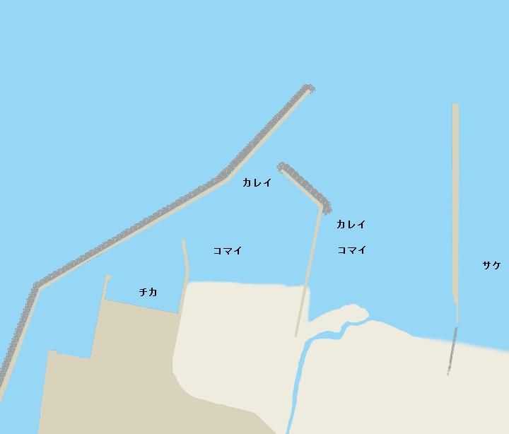 斜里漁港ポイント図