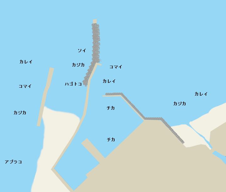 節婦漁港ポイント図