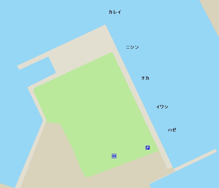 小樽港色内埠頭ポイント図