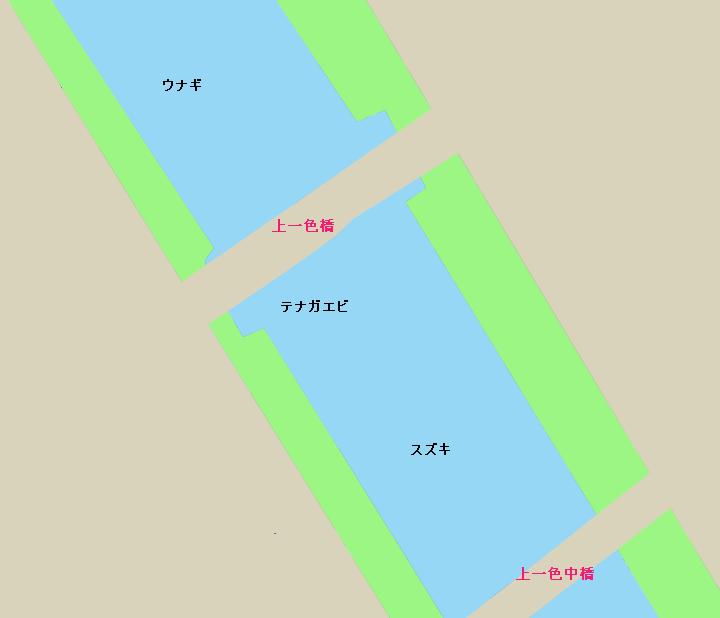新中川上一色橋周辺ポイント図