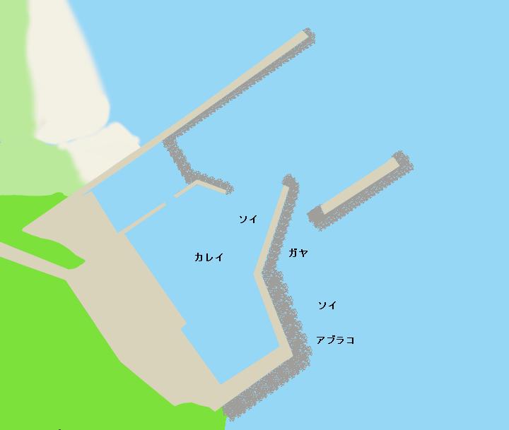 小樽塩谷漁港ポイント図