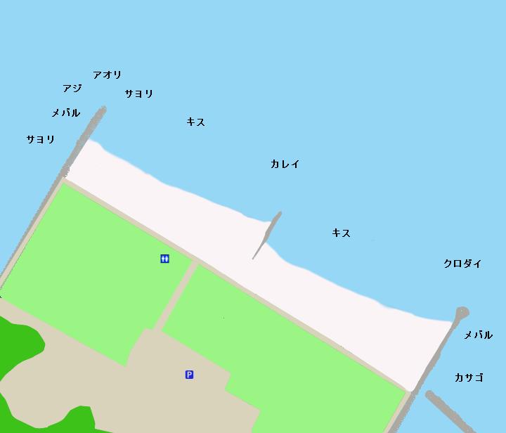 白谷海浜公園ポイント図
