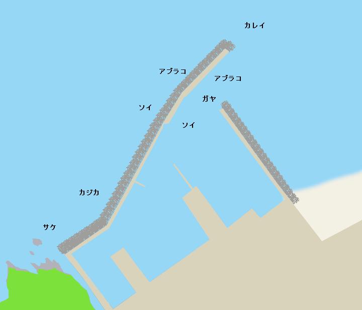 静狩漁港ポイント図
