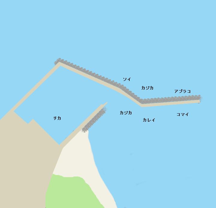 静内漁港ポイント図