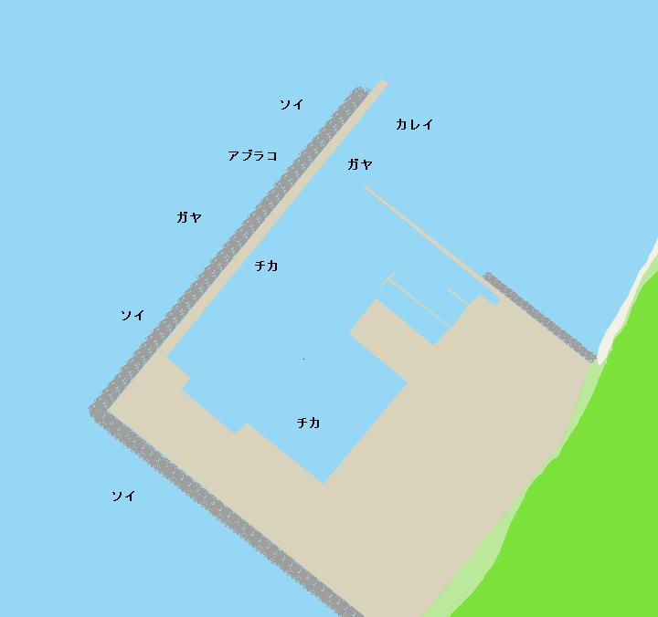 新虻田漁港ポイント図