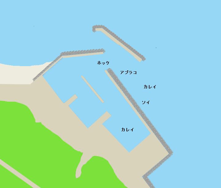 汐吹漁港ポイント図