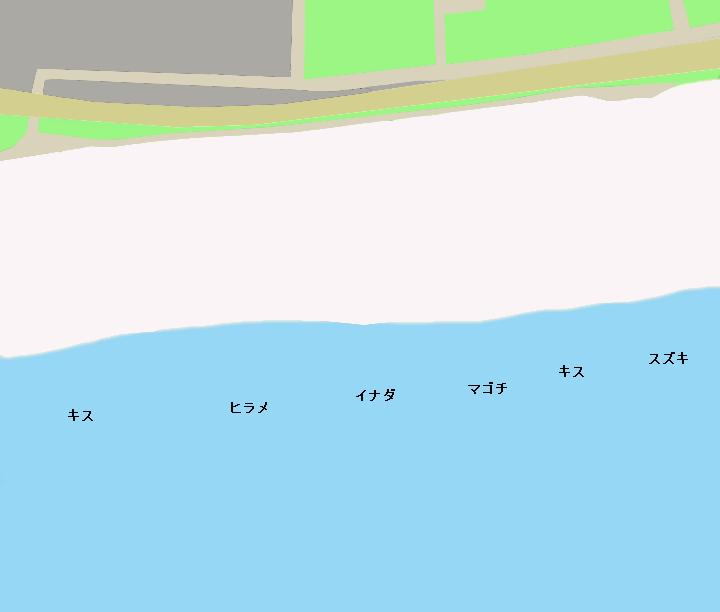 白須賀海岸ポイント図