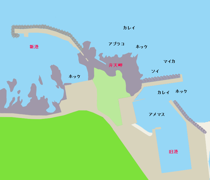 須築漁港ポイント図