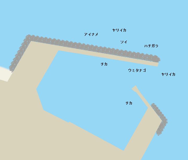 住吉漁港ポイント図