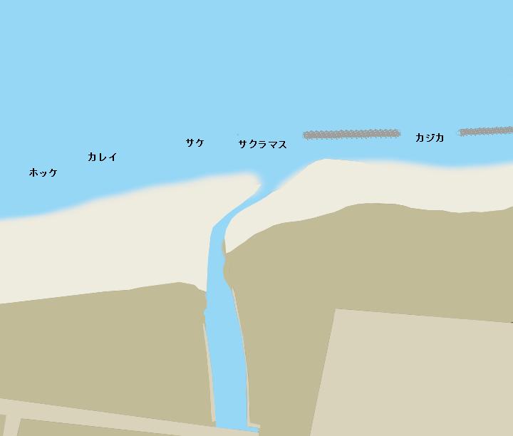 初山別川河口ポイント図
