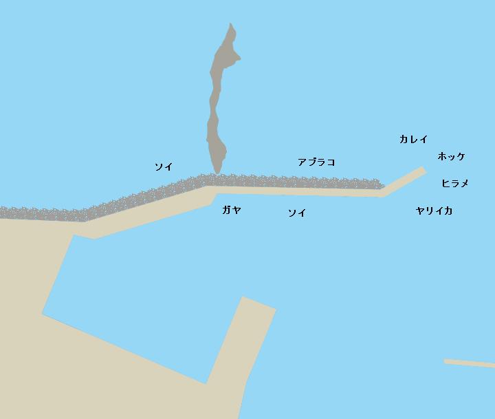 祝津漁港ポイント図