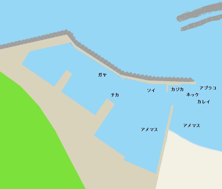 千走漁港ポイント図