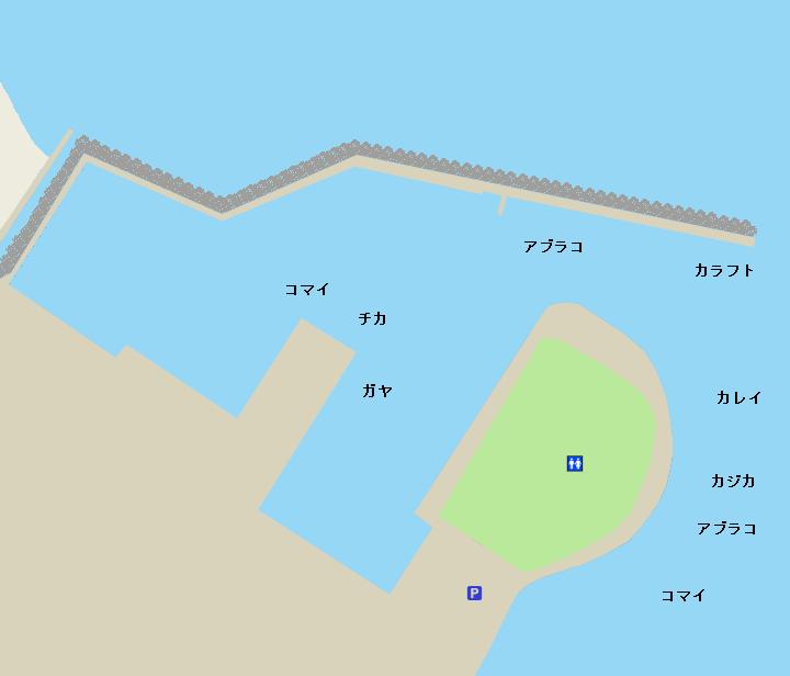 千代ノ浦漁港・千代ノ浦マリンパーク(千代ノ浦釣り公園)ポイント図