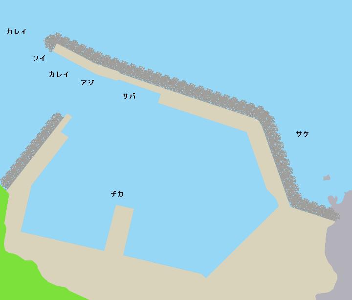 戸井漁港ポイント図