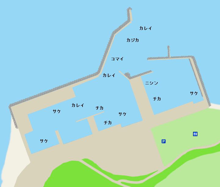 苫前漁港ポイント図