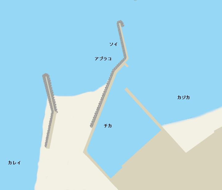 富浜漁港ポイント図