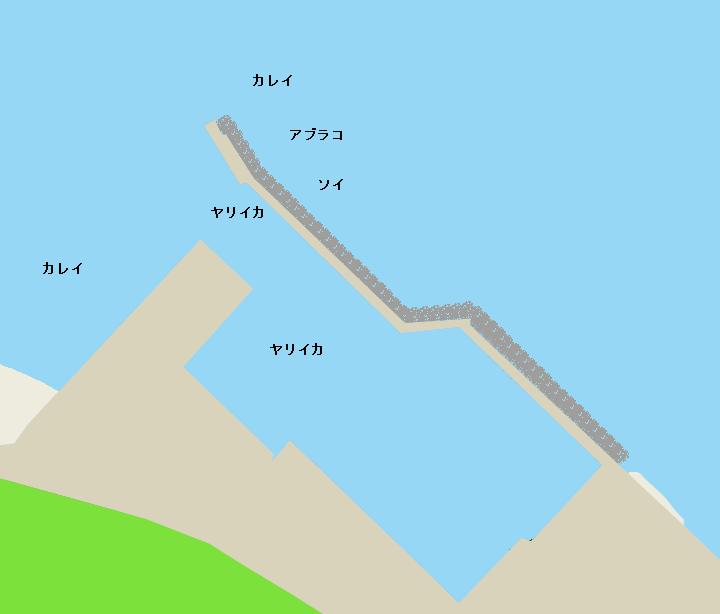 当別漁港ポイント図