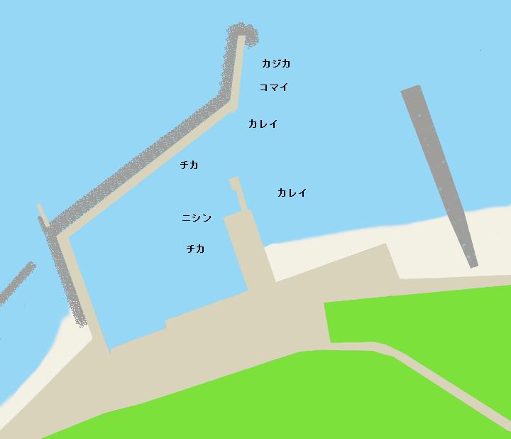 豊崎漁港ポイント図
