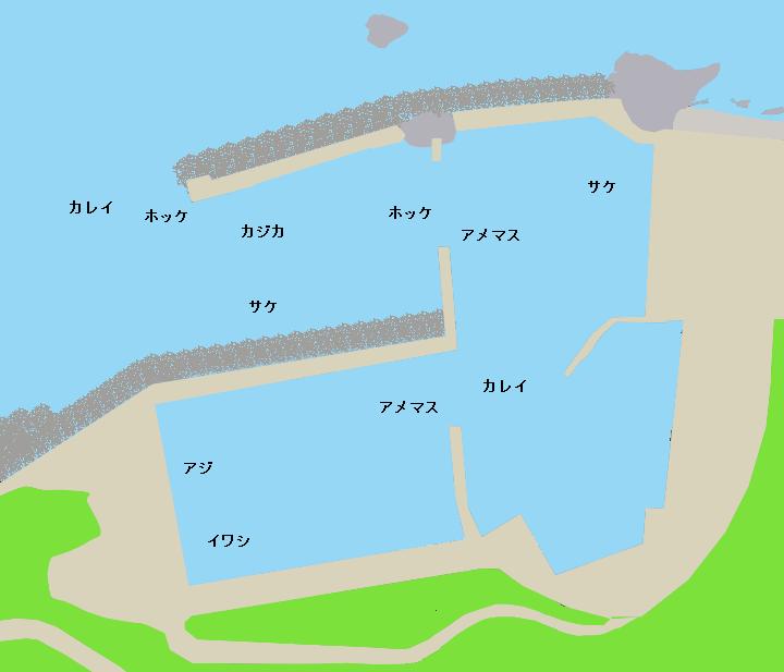 鵜泊漁港ポイント図