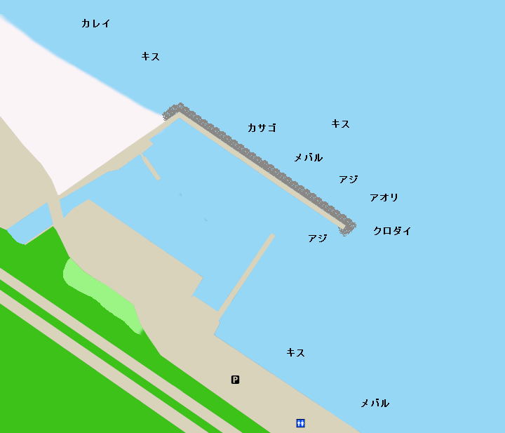 宇津江漁港ポイント図